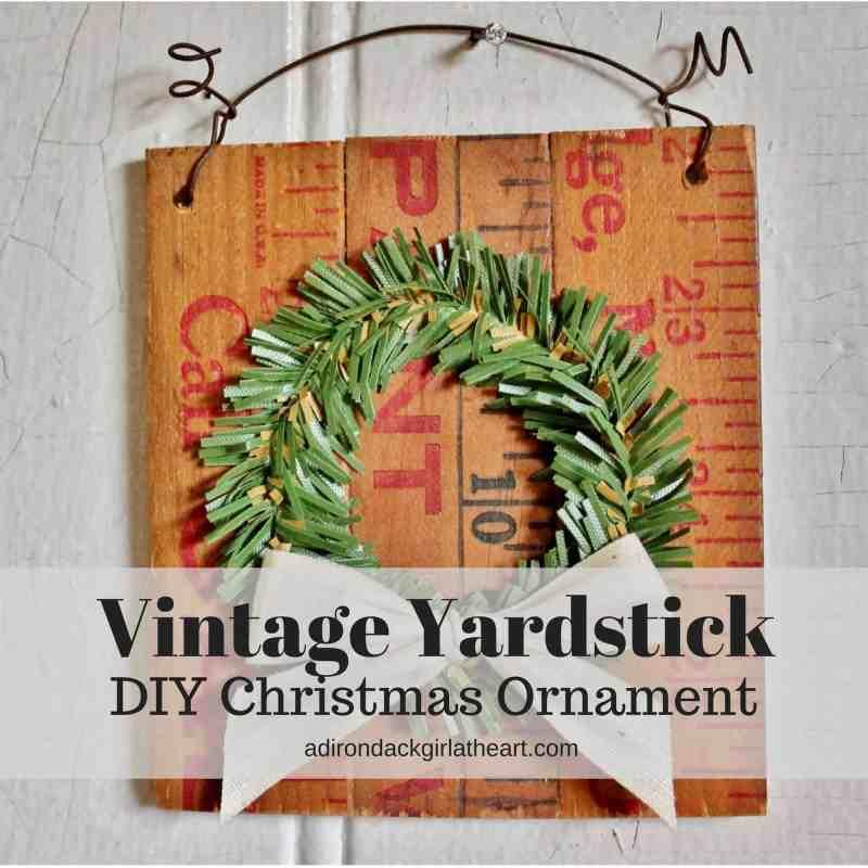 vintage yardstick DIY Christmas Ornament adirondackgirlatheart.com