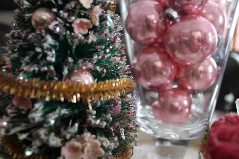 vintage pink bulbs in a jar