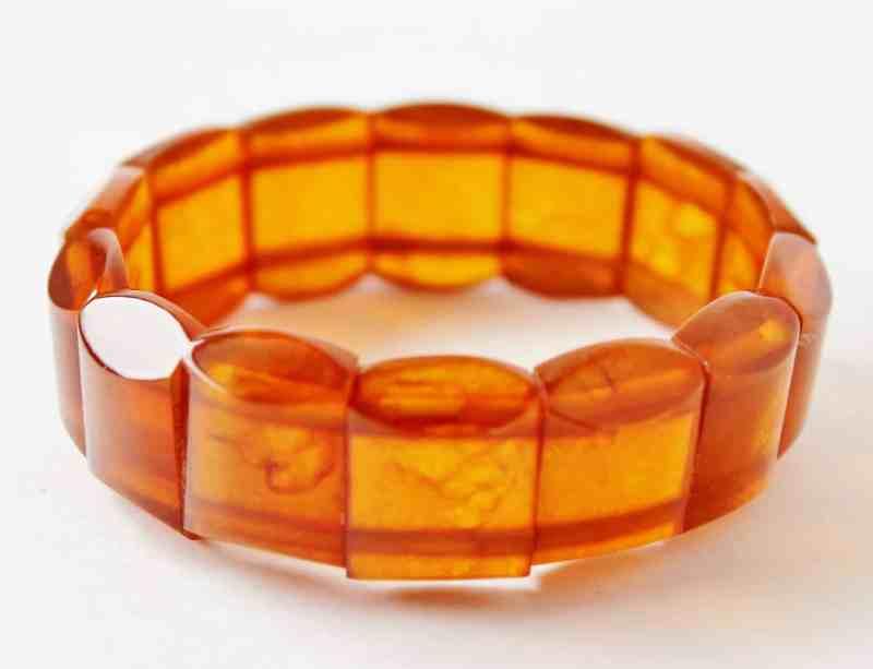 apple cider bakelite bracelet