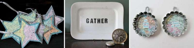 atlas stars, ironstone platter with gather, atlas tart pans