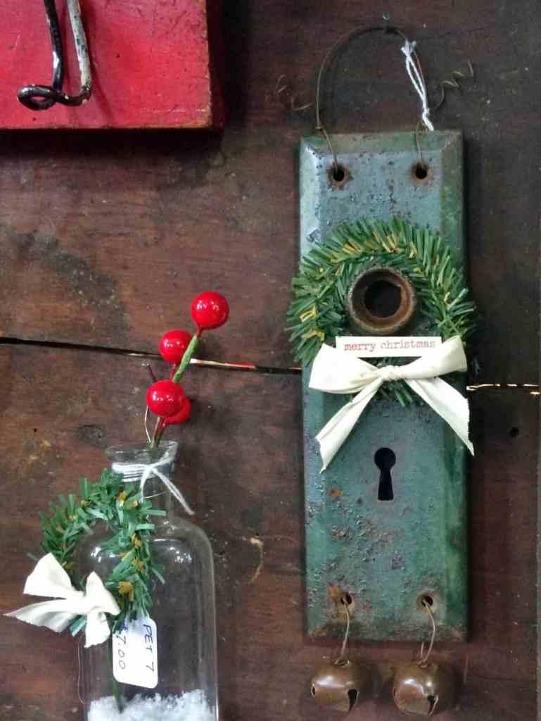 shaker craft fair display with door knob plate