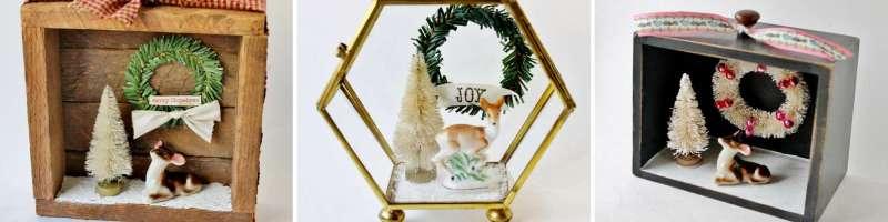 vintage christmas dioramas