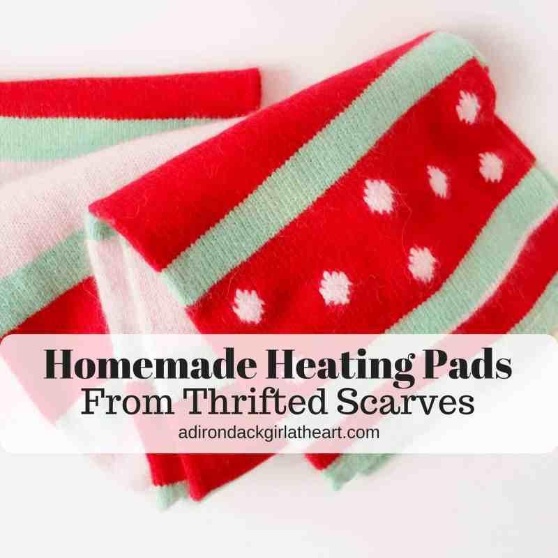 homemade heating pads form thrifted scarves adirondackgirlatheart.com