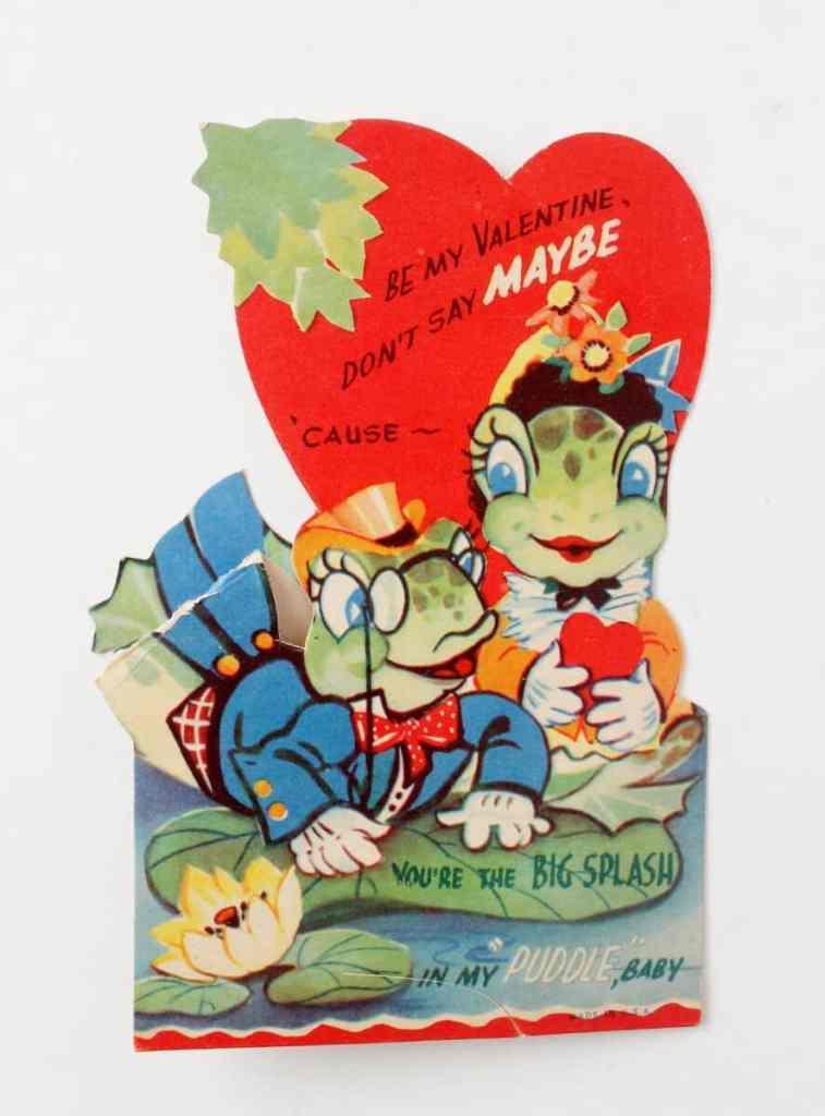 vintage frog valentine