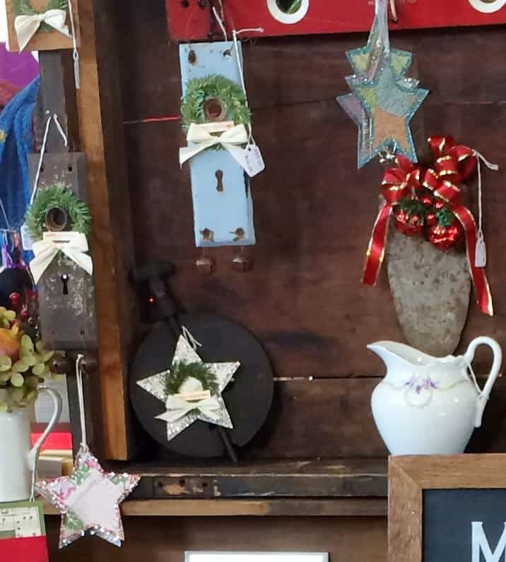 vintage upcycled door plate decor