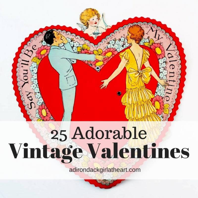 25 adorable vintage valentines adirondackgirlatheart.com