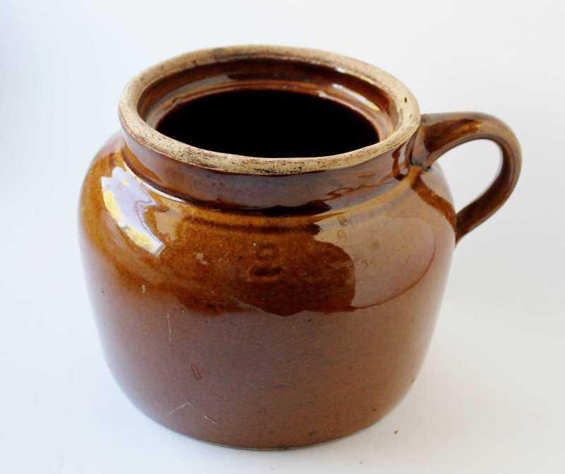 vintage bean pot