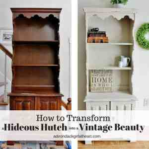 How I Transformed a Hideous Hutch into a Vintage Beauty