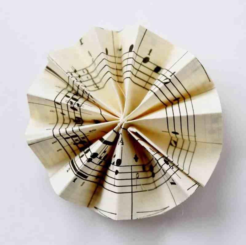 vintage music paper rosette