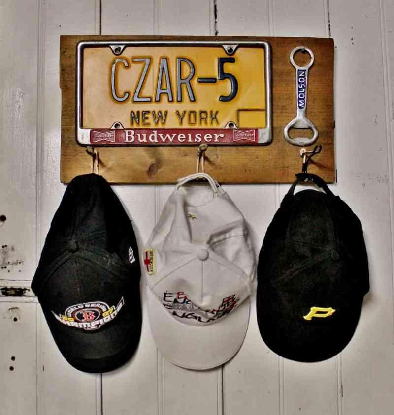 vintage man cave hat rack