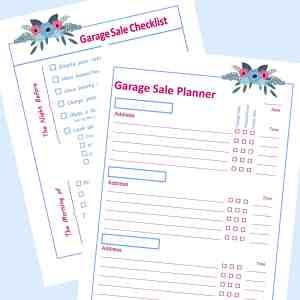 Garage Sale Check List & Planner collage