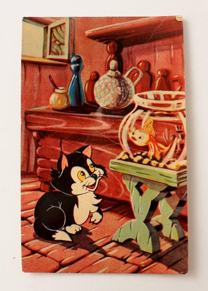 Disney Figaro Postcard