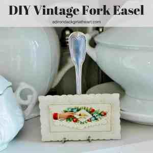 DIY Vintage Fork Easel