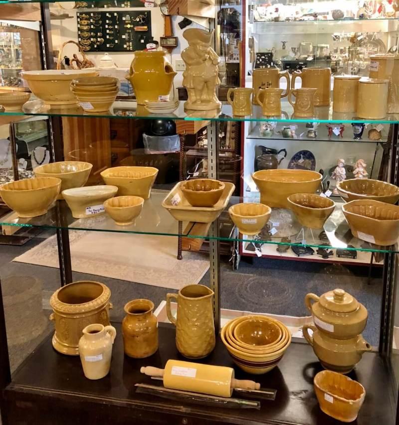 Antique Yellowware Display