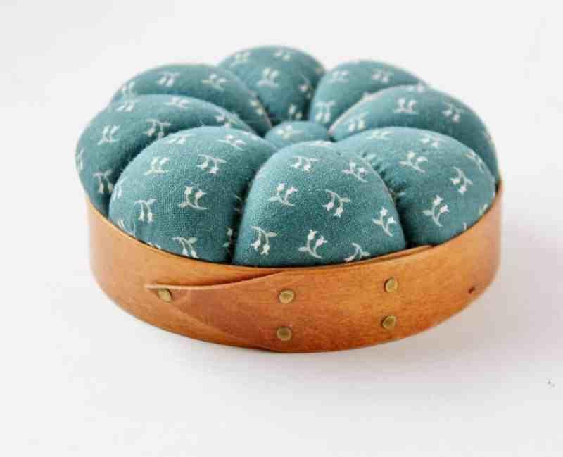 shaker style band box pin cushion