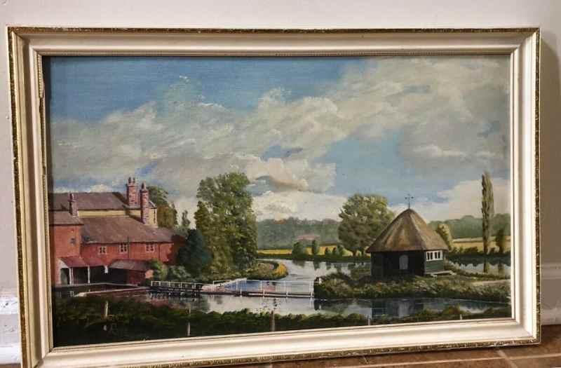 Oil Painting of Farm Landscape $50 (1200x787)