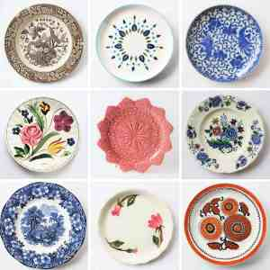 9 Endearing Vintage Plates
