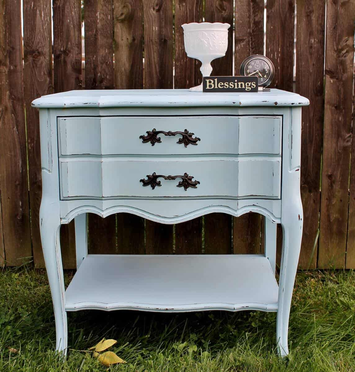 Vintage Painted French Provincial Night Stand