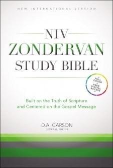 NIV Zondervan Study Bible Book Cover
