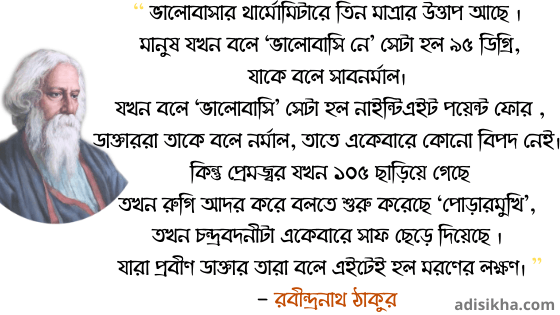 Rabindranath Tagore Quotes in bengali on Love
