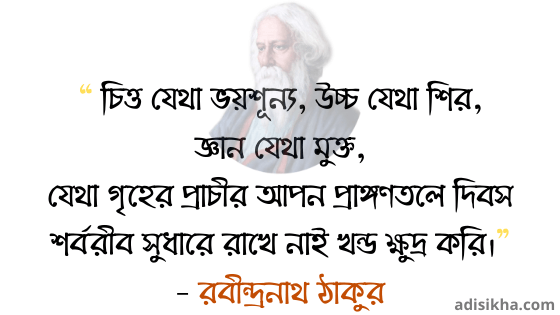 Rabindranath Tagore quotes in Bengali with images