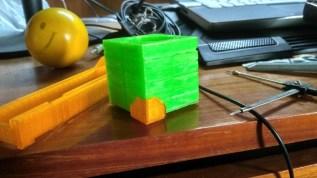 Part of a Portal 2 Companion Cube