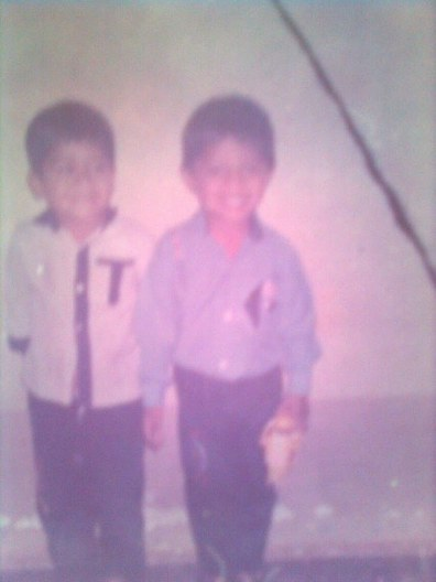 My cousin and I in 90s