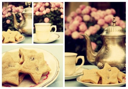 tea and cookies collage