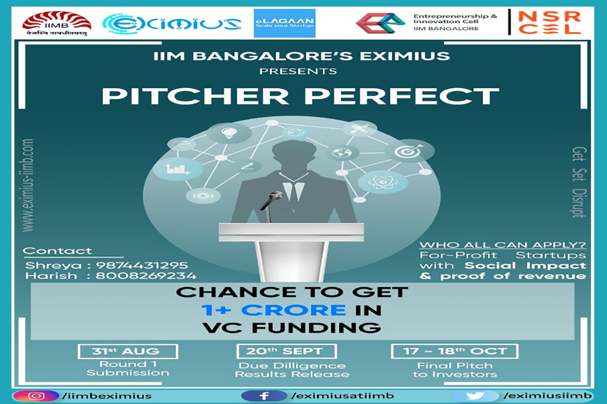 Adivid Technologies has been shortlisted as Top25 Start-up in the event of Pitcher Perfect of IIM Bangalore EXIMIUS