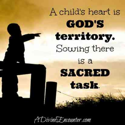 The Right Seeds /Psalm 107:37-38 / Powerful post on sowing truth in the hearts of children. https://adivineencounter.com/the-right-seeds