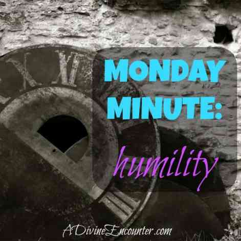 Brief but insightful post considering Jesus' example of humility. (Philippians 2:5-8) https://adivineencounter.com/monday-minute-humility