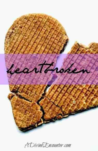 Encouraging post for the broken-hearted. (Psalm 34:18) https://adivineencounter.com/heartbroken