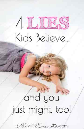 A must-read for Christian parents! Thoughtful post considers 4 common lies of our culture and the corresponding truth from the Bible.