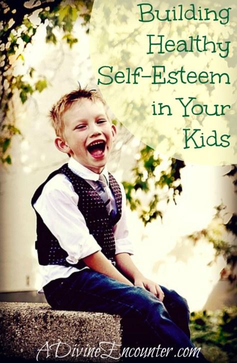 Insightful post offers 7 ways Christian parents can work toward building healthy self esteem in their children. (Psalm 139:14) https://adivineencounter.com/self-esteem