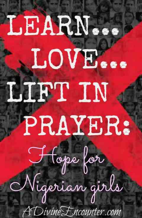 Thoughtful and hopeful post considers God's work in the lives of people, particularly in the lives of kidnapped Nigerian girls.  https://adivineencounter.com/hope-assured-nigerian-girls