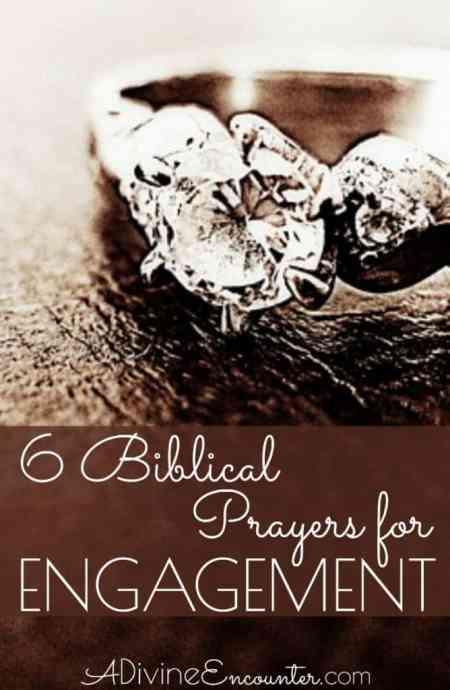 Six biblical prayers for engaged couples. Pray these over your own engagement, or on behalf of an engaged couple in your life.