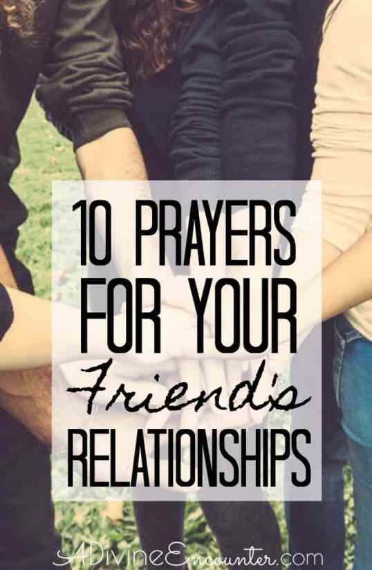 Prayers for Your Friend's Relationships
