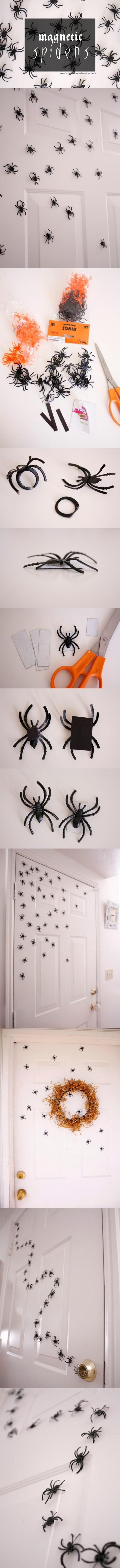 13. Halloween Magnetic Spiders