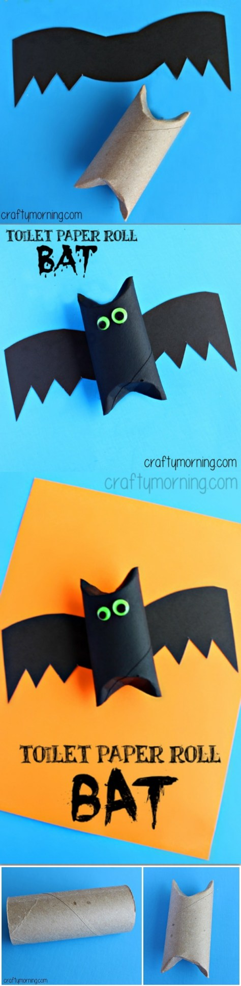 5. Toilet Paper Roll Bat Craft for Kids