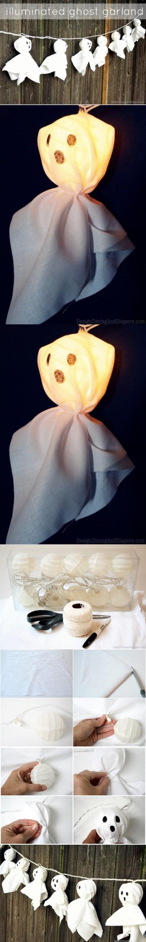 6. Illuminated Ghost Garland