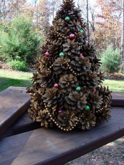 60 most popular christmas tree decorations ideas a diy for Decorating pine cones for christmas tree