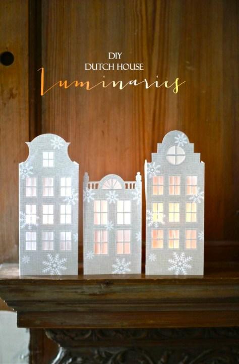 DIY Dutch Canal House Luminaries