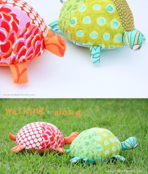 DIY Stuffed Fabric Turtles
