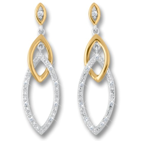 Links of Love Diamond Earrings