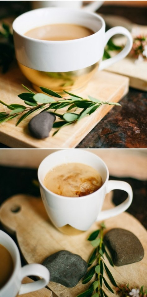 DIY Gold Dipped Coffee Cup