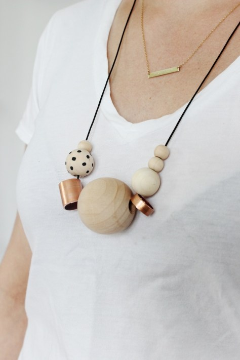 DIY Wood Copper Necklaces