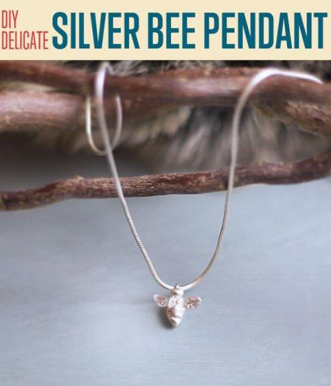 DIY Delicate Silver Bee Pendant