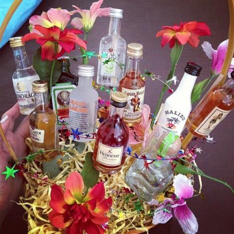 DIY Mini Alcohol Bottle Bouquet