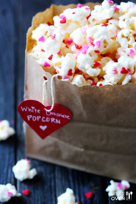 DIY Valentine's White Chocolate Popcorn