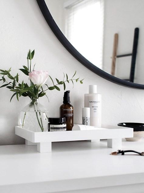 DIY Footed Vanity Tray